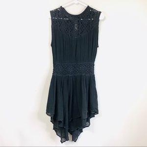 Jen's Pirate Booty Black Crochet Open Back Dress